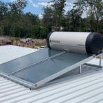 Envirosun solar hot water plonk for the Toowoomba Roonsleigh builders